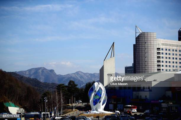 General views during the FIS Freestyle World Cup Snowboard Halfpipe Qualification at Bokwang Snow Park on February 17 2017 in Pyeongchanggun South...
