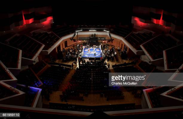 General views during the Frank Warren Championship Boxing bill at the Waterfront Hall on March 10 2017 in Belfast Northern Ireland