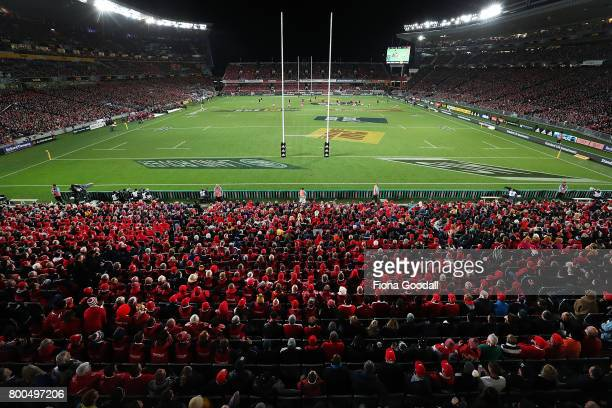 General views during the Test match between the New Zealand All Blacks and the British Irish Lions at Eden Park on June 24 2017 in Auckland New...