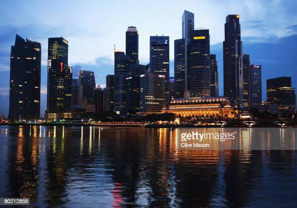 General views in the city on March 8 2008 in Singapore The first night race under floodlights will be held on a waterfront street circuit in...