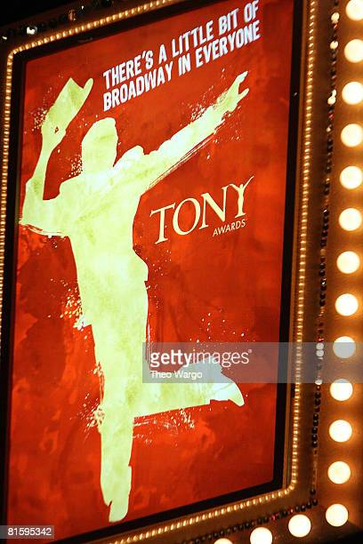 General views of atmosphere during the 62nd Annual Tony Awards at Radio City Music Hall on June 15 2008 in New York City