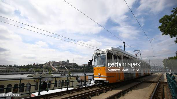 General views of Budapest ahead of the UEFA Women's Champions League Final at Groupama Arena on May 17, 2019 in Budapest, Hungary.