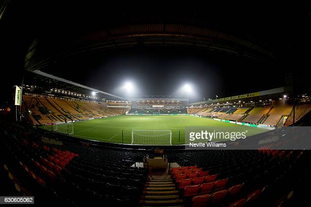 General views of Carrow Road during the Sky Bet Championship match between Norwich City and Aston Villa at Carrow Road on December 13 2016 in Norwich...