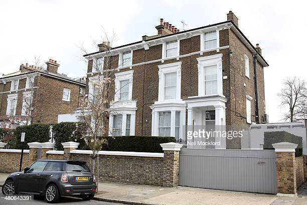 General Views of Chris Martin And Gwyneth Paltrow's North London Home on March 26 2014 in London England