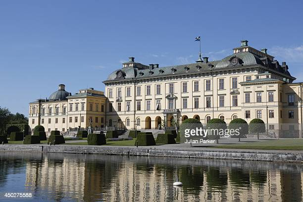 General Views of Drottningholm Palace prior to The Christening of Princess Leonore of Sweden at the Royal Chapel at Drottningholm on June 8 2014 in...