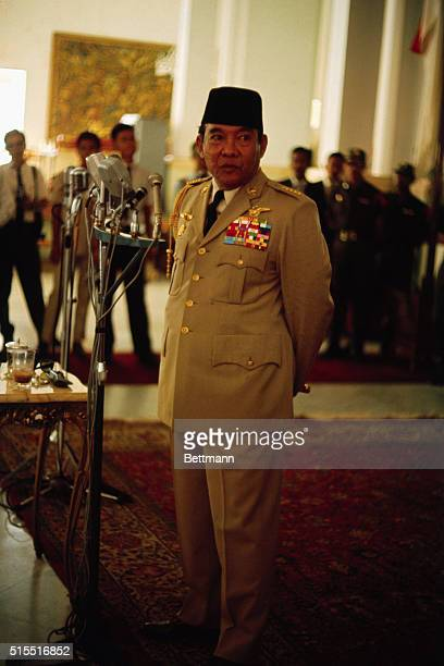 General views of Indonesia President President Sukarno with other ministers