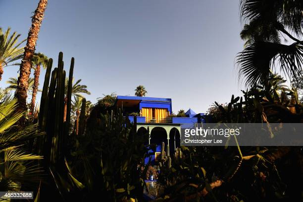 General views of Jardin Majorelle on September 12 2014 in Marrakech Morocco