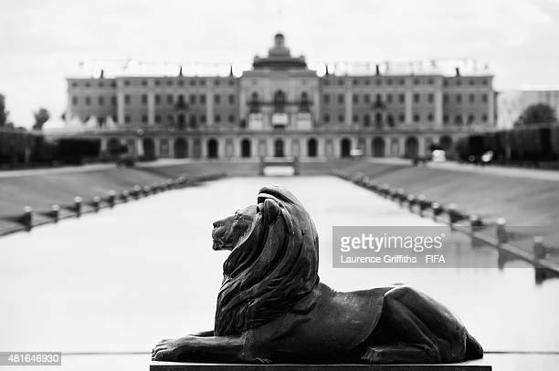 General views of Konstantin Palace gardens the venue for the 2018 FIFA World Cup Preliminary Draw on on July 23, 2015 in Saint Petersburg, Russia.