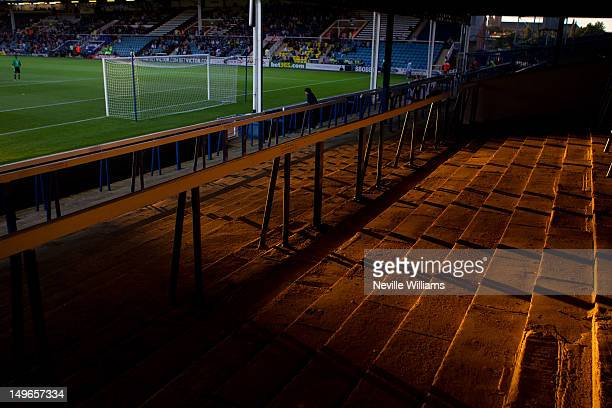 General views of London Road during the Pre Season Friendly match between Peterborough United and Aston Villa at London Road on August 1, 2012 in...