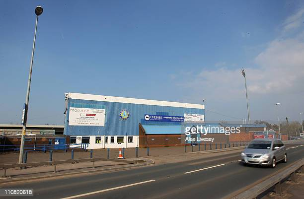 General views of Moss Rose the home ground of Macclesfield Town Football Club on March 24 2011 in Macclesfield England