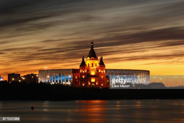 General views of Niznhy Novgorod Stadium ahead of the 2018 FIFA World Cup on June 14 2018 in Nizhny Novgorod Russia