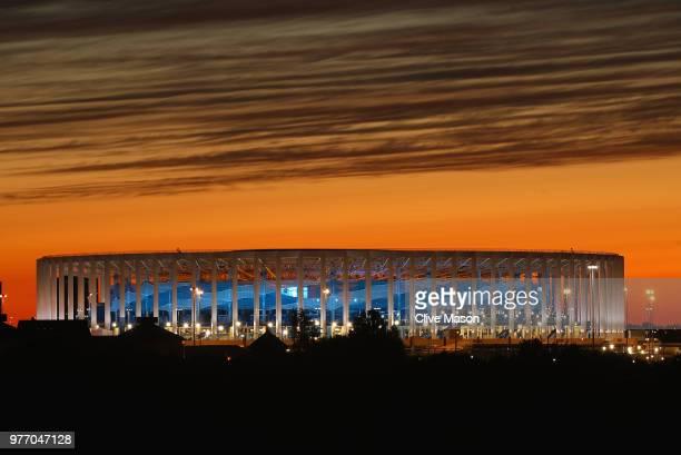 General views of Niznhy Novgorod Stadium ahead of the 2018 FIFA World Cup on June 14 2018 in Nizhny Novgorod Russia