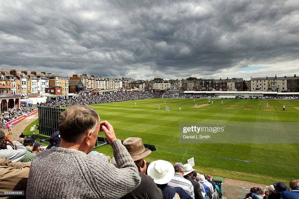General views of Norh Marine Road during day one of the Specsavers County Championship division one match between Yorkshire and Middlesex at North Marine Road on July 3, 2016 in Scarborough, England.
