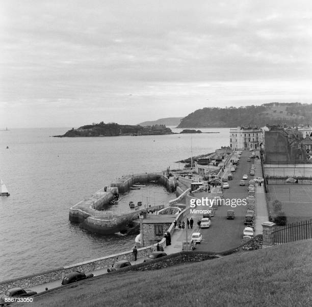 General views of Plymouth Devon Pictured Plymouth Hoe and Drake's Island13th April 1961