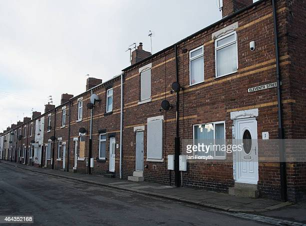 General views of properties on Eleventh Street in Horden some of which have fallen into neglect due to funding cuts to a local housing association in...
