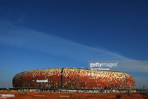 General views of Soccer City Stadium as construction continues ahead of next years World Cup Finals on June 13, 2009 in Johannesburg, South Africa.