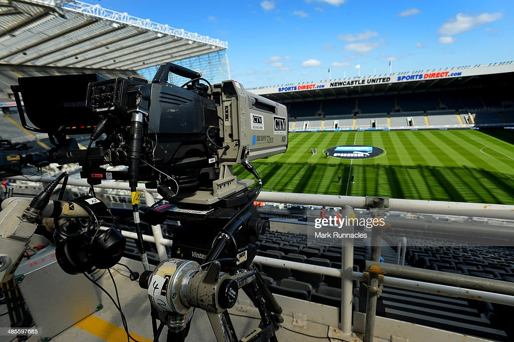 General Views of St James Park before the Barclays Premier League match between Newcastle United and Swansea City at St James Park on April 19, 2014 in Newcastle Upon Tyne, England.