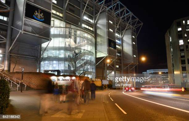 General Views of St James' Park before the Sky Bet Championship match between Newcastle United and Aston Villa at St James' Park on February 20 2017...