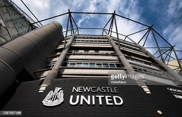 General views of St James' Park, home of Newcastle United on August 19, 2020 in Newcastle, United Kingdom.