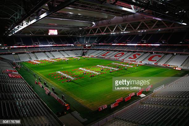 General Views of Stade Pierre Mauroy on February 2 2016 in Lille France