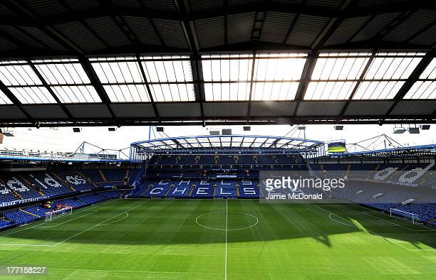 General views of Stamford Bridge prior to kickoff during the Barclays Premier League match between Chelsea and Aston Villa at Stamford Bridge on...