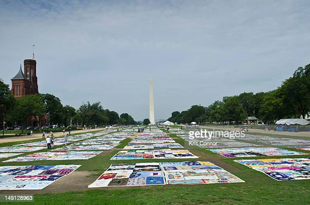 General views of the AIDS Memorial Quilt at the National Mall on July 23 2012 in Washington DC
