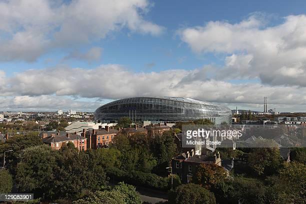 General views of the Aviva Stadium ahead of the EURO 2012 Group B qualifying match between the Republic of Ireland and Armenia at the Aviva Stadium...
