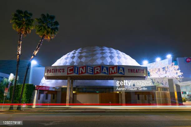 General views of the Cinerama Dome at Arclight Cinemas Hollywood after the announcement that Arclight Cinemas and Pacific Theatres will permanently...