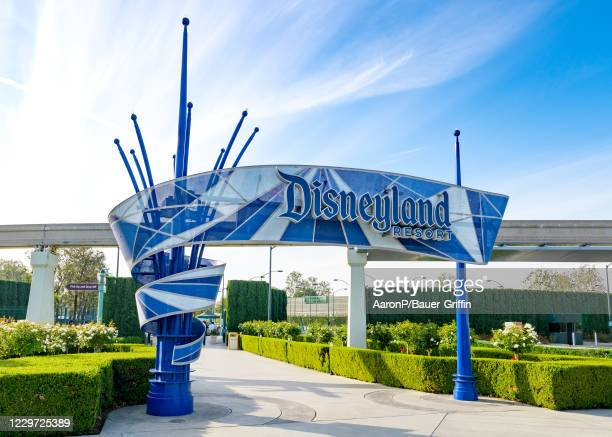 General views of the Disneyland Resort, partially reopened for outdoor dining and shopping with new COVID-19 guidelines in place on November 21, 2020...