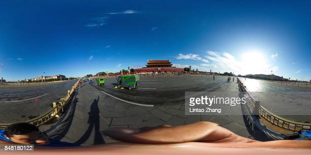 A general views of the Forbidden City at Tiananmen Square during the 2017 Beijing Marathon at Tiananmen Square on September 17 2017 in Beijing China