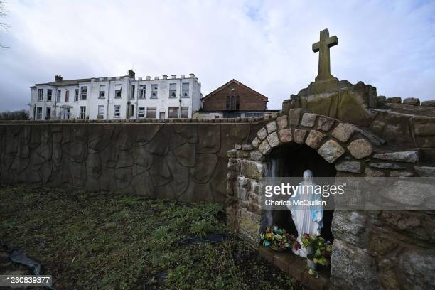 General views of the former Marianvale Mother and Bay home in Newry, run by the Good Shepherd Sisters on January 28, 2021 in Newry, Northern Ireland....