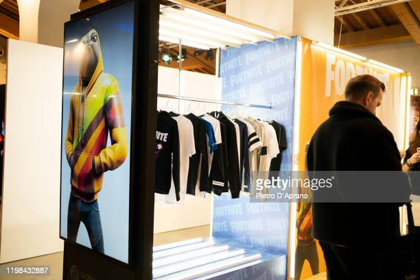 General views of the Fortnite stand during Pitti Immagine Uomo 97 at Fortezza Da Basso on January 09 2020 in Florence Italy