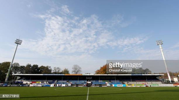 General views of the Hanesch Arena prior to the 3 Liga match between SV Meppen and Chemnitzer FC at Haensch Arena on November 4 2017 in Meppen Germany