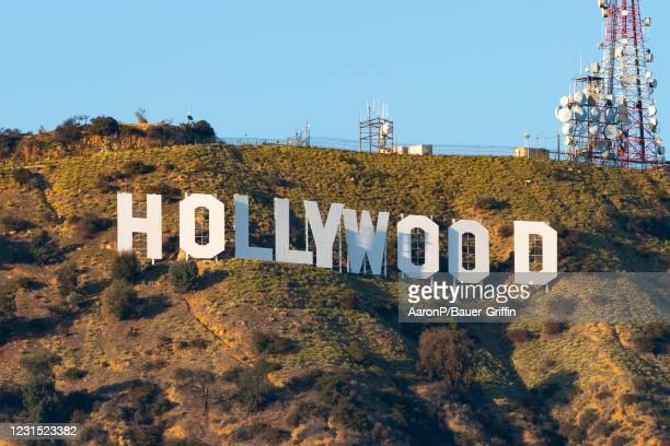 General views of the Hollywood Sign on March 04, 2021 in Hollywood, California.