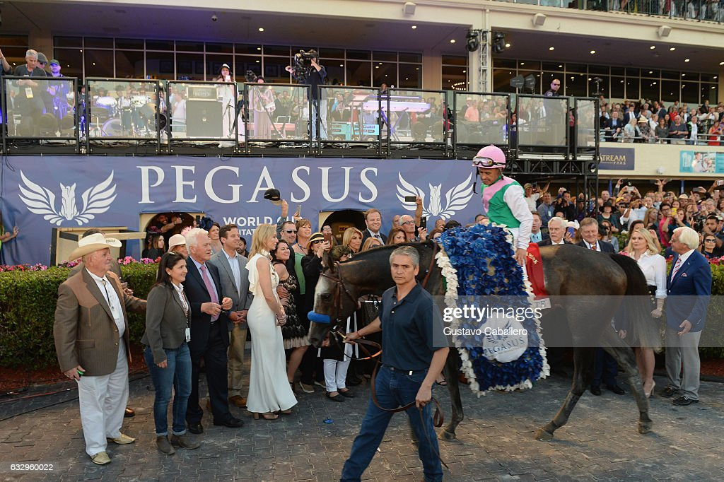 The Inaugural $12 Million Pegasus World Cup Invitational, The World's Richest Thoroughbred Horse Race At Gulfstream Park : News Photo