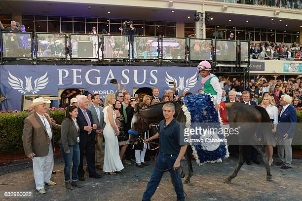 General views of The Inaugural $12 Million Pegasus World Cup Invitational The World's Richest Thoroughbred Horse Race At Gulfstream Park at...