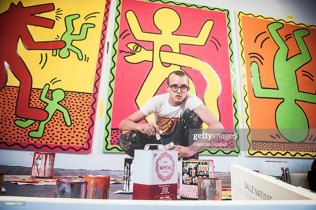 'Keith Haring' Exhibition Preview At Le Musee D'Art Moderne In Paris : News Photo