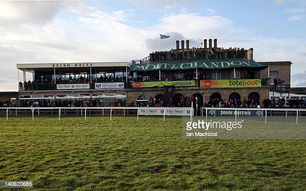 General views of the main stand at Kelso racecourse on March 03, 2012 in Kelso, United Kingdom.