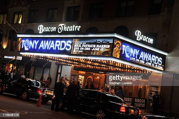 General views of the marque during the 65th Annual Tony Awards at the Beacon Theatre on June 12 2011 in New York City