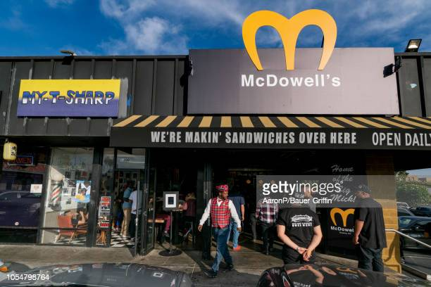 General views of the 'McDowell's' popup restaurant paying homage to the 1988 film 'Coming to America' in Hollywood The popular Fat Sal's eatery went...