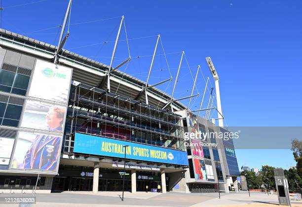 General views of the MCG on March 16, 2020 in Melbourne, Australia. The Covid-19 Pandemic continues to affect sport in Australia with all major...