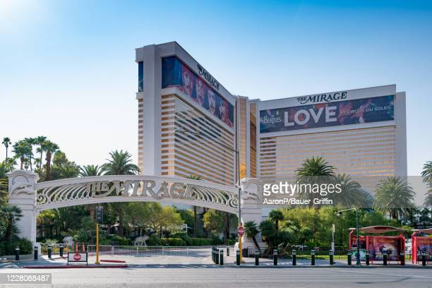 General views of The Mirage hotel and casino, temporarily closed due to COVID-19 on August 17, 2020 in Las Vegas, Nevada.