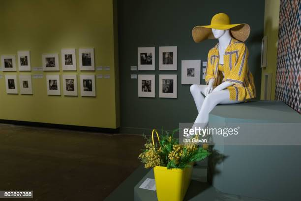 General views of the museum space during the Louise DahlWolfe exhibition private view at The Fashion and Textile Museum on October 18 2017 in London...
