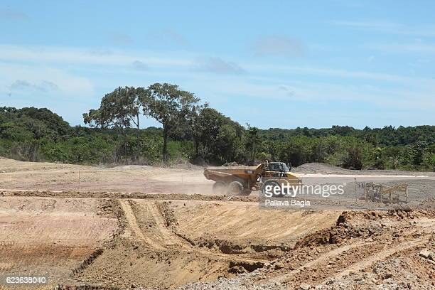 General views of the new launch pad being built by the European space community to lift the new rocket ARIANE6 at the Guiana Space Center on October...