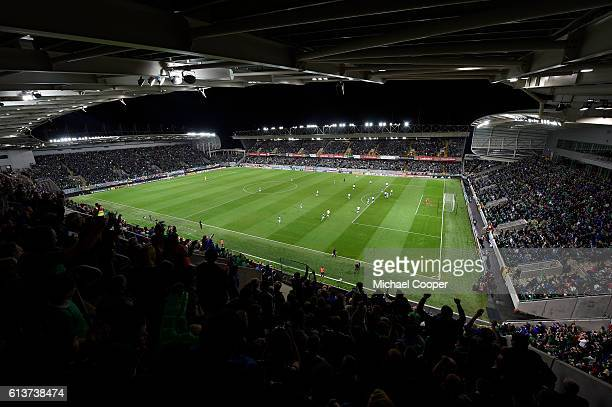 General views of the newly developed Windsor Park Belfast Northern Ireland during the FIFA 2018 World Cup Qualifier between Northern Ireland and San...