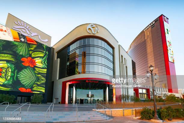 General views of the newly opened Resorts World Las Vegas hotel and casino on June 27, 2021 in Las Vegas, Nevada.