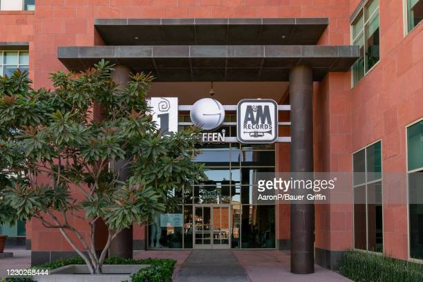 General views of the offices of Interscope Records, Geffen Records, and A&M Records, owned by Universal Music Group on December 22, 2020 in Santa...
