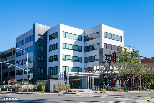 General views of the Oracle corporate offices on December 21, 2020 in Santa Monica, California.