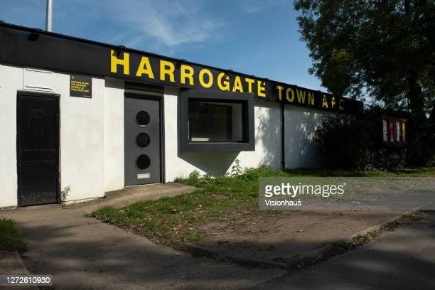 General views of the outside of the EnviroVent Stadium, home of Harrogate Town FC on September 14, 2020 in Harrogate, United Kingdom.