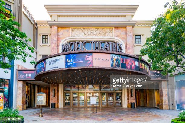 General views of the Pacific Theatres movie theater at the Americana at Brand shopping mall on October 20, 2020 in Glendale, California.